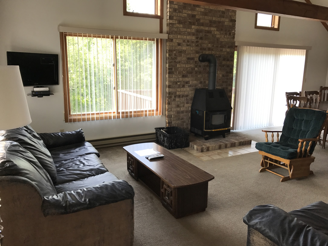 Indianhead Valley Living Room with vaulted ceiling and view of Indianhead